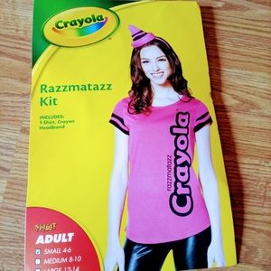 Crayola ladies size small Halloween costume pink